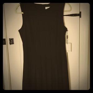 NEW Black Pleat Midi Dress by Calvin Klein
